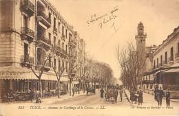 Lot 3 CPA Afrique - Tunisie - Tunis Avenue De Carthage Et Le Casino, Souk El Attarine Avenue Jules Ferry 1921 - Tunisia