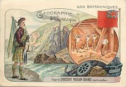 - Chromos -ref-ch885- Chocolat Poulain - Geographie Pittoresque - Iles Britanniques - United Kingdom -extraction Houille - Poulain