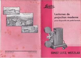 P-19-T-GF-019 : LANTERNES DE PROJECTION MODERNE  PHOTO. ERNST LEITZ. WETZLAR. 1935. - Photographie