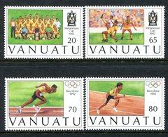 Vanuatu 1992 Participation In Melanesian Football Cup And Olympic Games Set MNH (SG 601-604) - Vanuatu (1980-...)