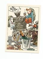 Cp , Illustrateur , Signée CABANES , Bandes Déssinées Tintin , Milou,,, , Restaurant : Au Jardin De La Paresse , Paris - Autres Illustrateurs