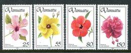 Vanuatu 1993 Hibiscus Flowers Set MNH (SG 614-617) - Vanuatu (1980-...)