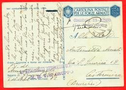 FRANCHIGIA-PM 72-ARTIGLIERIA D.F.- PER CISTERNINO-BRINDISI - Guerra 1939-45