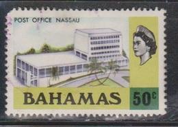 BAHAMAS Scott # 327 Used - QEII & Post Office Nassau - Bahamas (...-1973)