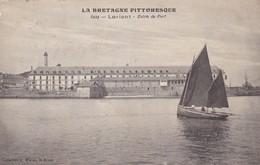 56. LORIENT. CPA  ENTRÉE DU PORT. ANNEE 1918 + TEXTE - Lorient