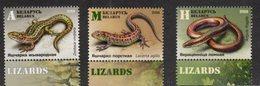 BELARUS , 2018, MNH,  REPTILES, LIZARDS, 3v - Reptiles & Amphibians