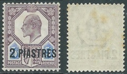 1905-08 BRITISH LEVANT TURKISH CURRENCY SG 14 2pi ON 5d MNH ** - F23-9 - British Levant