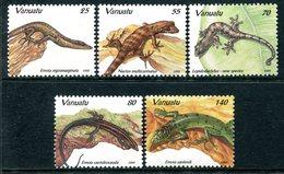 Vanuatu 1995 Lizards Set MNH (SG 687-691) - Vanuatu (1980-...)