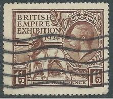 1924 GREAT BRITAIN USED BRITISH EMPIRE EXHIBITION SG 431 1 1/2d BROWN - F22-6 - Usati