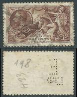 1934 GREAT BRITAIN USED SEA HORSES SG 451 2/6s PERFIN - F23-4 - Usati