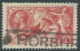 1934 GREAT BRITAIN USED SEA HORSES SG 451 5s - F23-4 - Usati