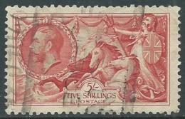 1934 GREAT BRITAIN USED SEA HORSES SG 451 5s - F23-5 - Usati