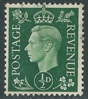 1937-47 GREAT BRITAIN USED SG 462 1/2d - F23-2 - Usati