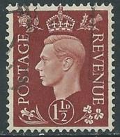 1937-47 GREAT BRITAIN USED SG 464 1 1/2d - F23-2 - Usati