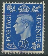 1937-47 GREAT BRITAIN USED SG 466 2 1/2d - F23-2 - Usati