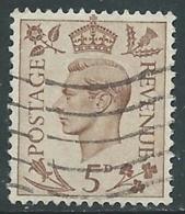 1937-47 GREAT BRITAIN USED SG 469 5d - F23-2 - Usati