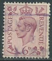 1937-47 GREAT BRITAIN USED SG 470 6d - F23-2 - Usati