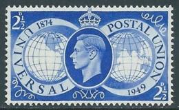 1949 GREAT BRITAIN UPU SG 499 2 1/2d MNH ** - F23-8 - 1902-1951 (Re)