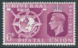 1949 GREAT BRITAIN UPU SG 501 6d MNH ** - F23-8 - 1902-1951 (Re)