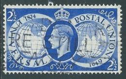 1949 GREAT BRITAIN USED UPU SG 499 2 1/2d - F23-8 - Usati