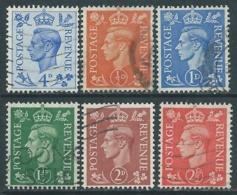 1950-52 GREAT BRITAIN USED SG 503/8 SET OF 6 - F23-9 - Usati