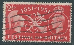 1951 GREAT BRITAIN USED COMMERCE AND PROSPERITY SG 513 2 1/2d - F23-8 - Usati