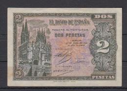 EDIFIL 429a.   2 PTAS 30 DE ABRIL DE 1938 SERIE D.   CATEDRAL DE BURGOS. - [ 3] 1936-1975 : Régimen De Franco