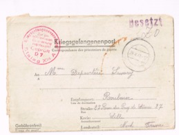 Kriesgsgefangenenpost.Stalag XIII A à Roubaix (France). Marque De Censure. - Allemagne
