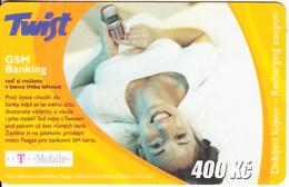 CZECH REPUBLIC - Girl On Phone, GSM Banking, Twist/T Mobile Prepaid Card 400 Kc, Exp.date 01/06/07, Used - Czech Republic