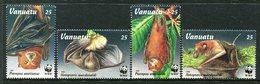 Vanuatu 1996 Endangered Species - Flying Foxes Set MNH (SG 716-719) - Vanuatu (1980-...)