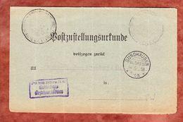 Postzustellungsurkunde, Frei Durch Abloesung, KOS Sundhausen, Nach Strassburg 1918 (69660) - Deutschland