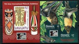 Vanuatu 1996 China '96 Stamp Exhibition MS Set MNH (SG MS720-721) - Vanuatu (1980-...)