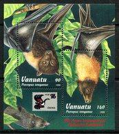 Vanuatu 1996 China '96 Stamp Exhibition - Flying Foxes MS MNH (SG MS721) - Vanuatu (1980-...)