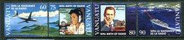Vanuatu 1996 Centenary Of Radio Set MNH (SG 724-727) - Vanuatu (1980-...)