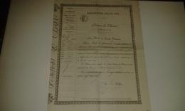 VP14.573 - Ministère De L'Intérieur PARIS X FONTENAY 1881 - Permis De Chasse - Mr E. BOURLOTON à MAILLEZAIS - Vieux Papiers