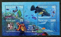 Vanuatu 1996 Diving MS MNH (SG MS744) - Vanuatu (1980-...)