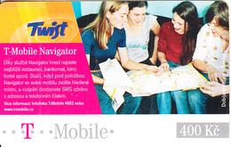 CZECH REPUBLIC - People, T-Mobile Navigator, Twist/T Mobile Prepaid Card 400 Kc, Exp.date 13/12/08, Used - Czech Republic