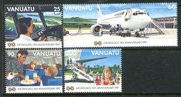 Vanuatu 1997 Tenth Anniversary Of Air Vanuatu Set MNH (SG 746-749) - Vanuatu (1980-...)