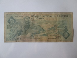 Rare! Congo 50 Francs 1961 Banknote - Congo