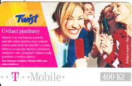 CZECH REPUBLIC - 4 Girls, Uvitaci Pozdravy, Twist/T Mobile Prepaid Card 400 Kc, Exp.date 13/12/08, Used - Czech Republic