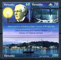 Vanuatu 1997 150th Birth Anniversary Of Thomas Edison Set MNH (SG 757-759) - Vanuatu (1980-...)