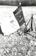 Themes Div-ref Z994- Photo 14cms X 9cms - Guerre 1939-45-drapeau Corps Francs De Bavans - General De Gaulle  - - War, Military