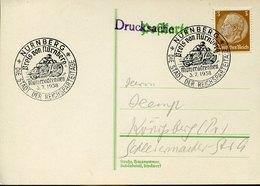 42663 Germany Reich,special Postmark 1938 Nurnberg Motor Races  Preis Of Nurnberg, Motorrad - Motos