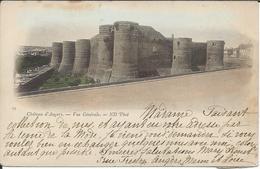 CP 49 - Château D'Angers Vue Générale Timbre Et Oblitération 1901 Au Dos - Angers