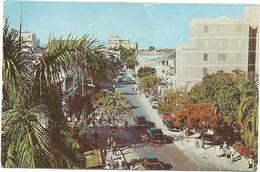 W1121 Bahamas - Nassau - Bay Street - Auto Cars Voitures / Viaggiata 1963 - Bahamas