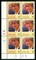 Vanuatu 1998 Diana, Princess Of Wales Commemoration - Block Of 6 MNH (SG 770) - Vanuatu (1980-...)