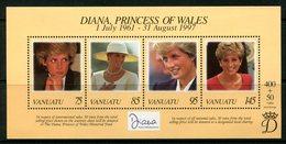 Vanuatu 1998 Diana, Princess Of Wales Commemoration MS MNH (SG MS771) - Vanuatu (1980-...)