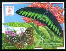 Vanuatu 1998 Butterflies MS MNH (SG MS783) - Vanuatu (1980-...)