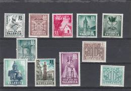 España Serie Plan Sur De Valencia.11 Valores - 1931-Hoy: 2ª República - ... Juan Carlos I