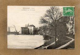 CPA - ROCHEFORT (39) - Aspect Du Moulin Sur Le Doubs Et De La Péniche Amarrée Au Chemin De Halage En 1923 - France